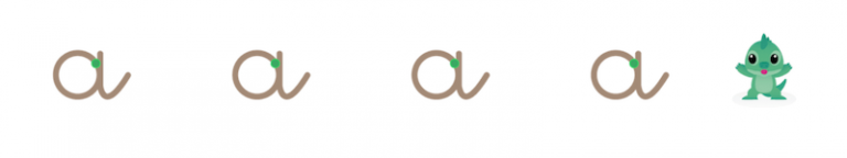 Lettres cursives - tracer les lettres en grand