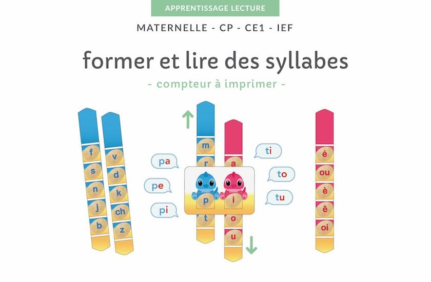 Ressources Pédagogiques à imprimer - former et lire des syllabes simples