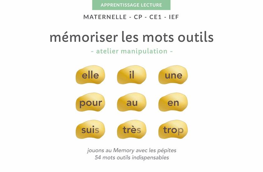 Ressources pédagogiques à imprimer - mémoriser mots outils