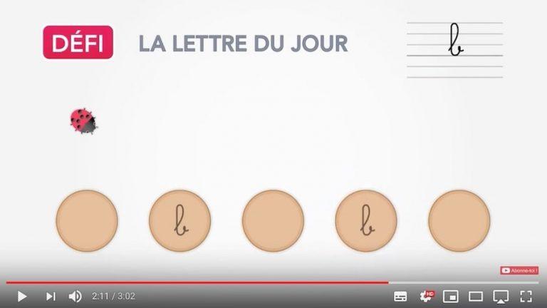 Vidéo - mémoriser la forme des lettres cursives