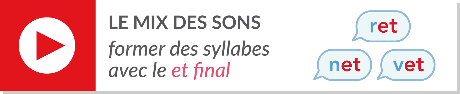 lecture de syllabes - vidéo syllabes - graphème et final
