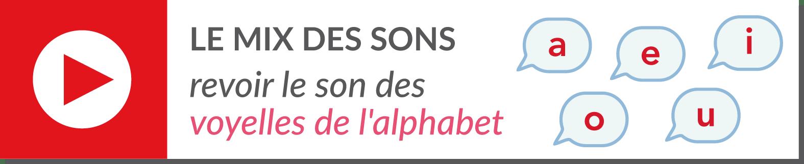 lecture de syllabes - vidéo voyelles de l'alphabet - a e i y o u