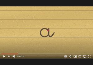 playlist vidéos - écriture cursive - apprendre à tracer les lettres