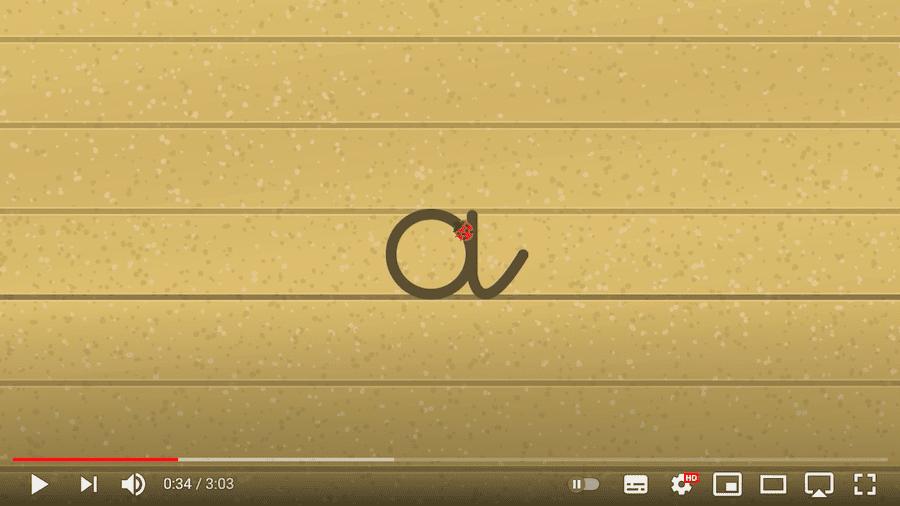 tracé des lettres rondes - vidéo écriture cursive minuscule - maternelle CP CE1 IEF