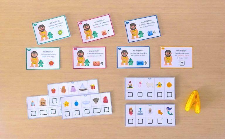 cartes à imprimer pour développer la conscience phonologique
