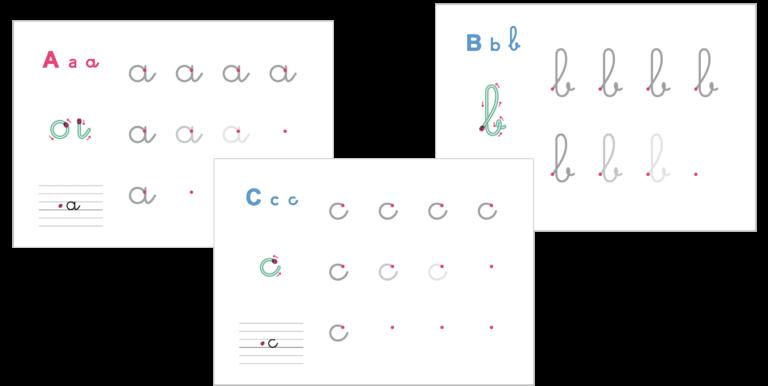 fiches forme et sens du tracé des lettres à imprimer