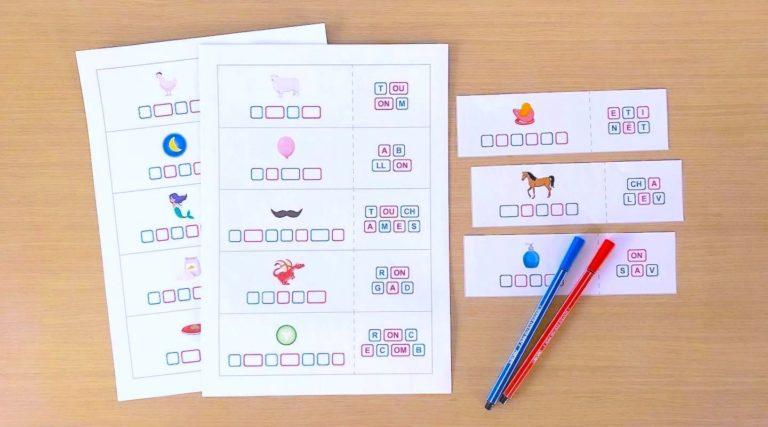 les dictées muettes - fiches à imprimer avec blocs de sons