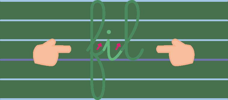 apprendre à écrire - comment tracer les lettres à boucles sans interruption - Eduscol