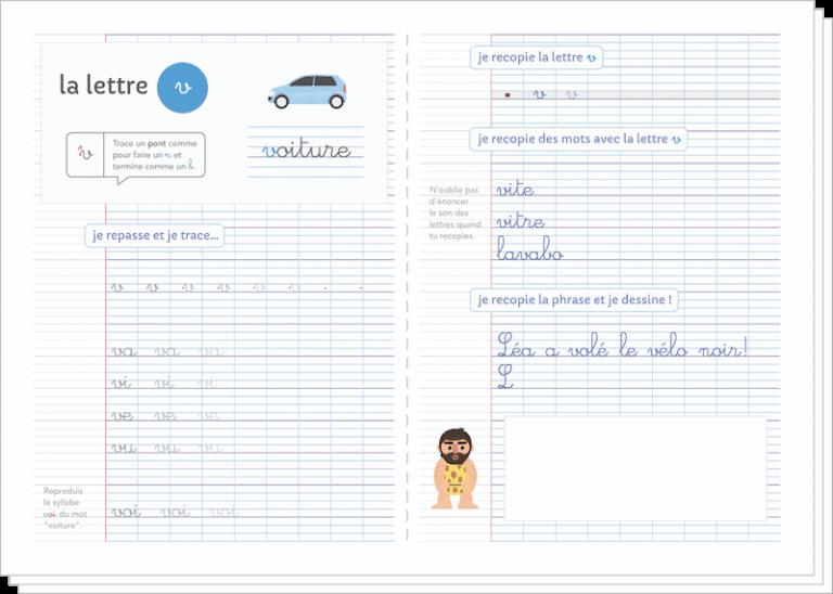 apprendre à écrire aux enfants - fiches cahier écriture à imprimer CP