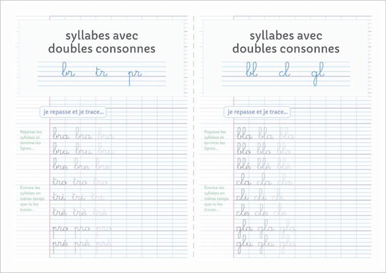 apprendre à écrire aux enfants - fiches doubles consonnes à imprimer CP