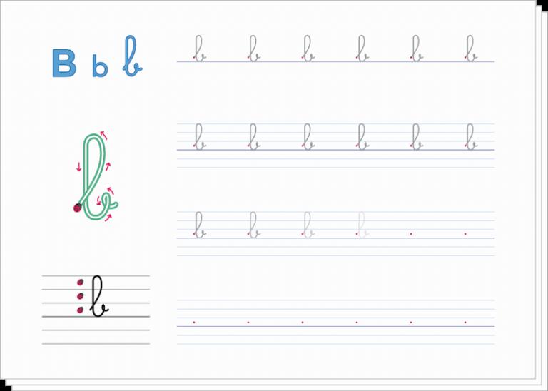 apprendre à écrire aux enfants - fiches tracé des lettres lignage à imprimer