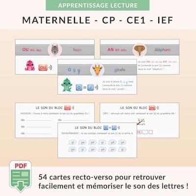ressources pédagogiques - cartes des sons aide-mémoire à imprimer