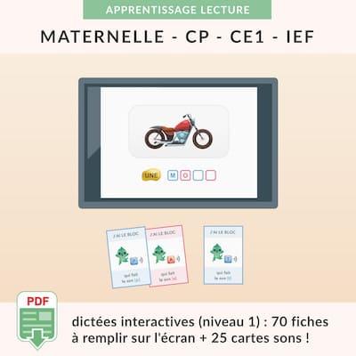 ressources pédagogiques - dictées interactives niveau 1