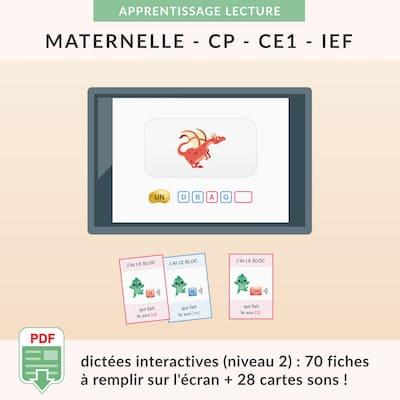 ressources pédagogiques - dictées interactives niveau 2