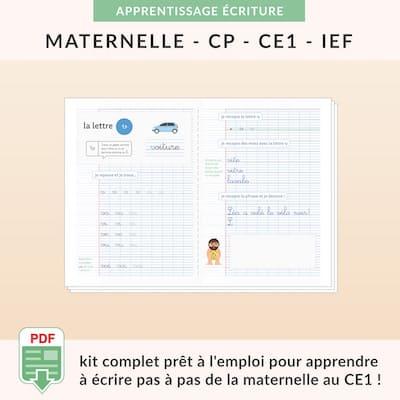 ressources pédagogiques -kit écriture cursive à imprimer