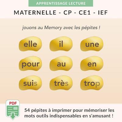 ressources pédagogiques - mots outils à imprimer