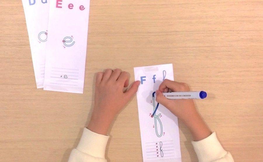 Apprendre à écrire - les lettres de l'alphabet
