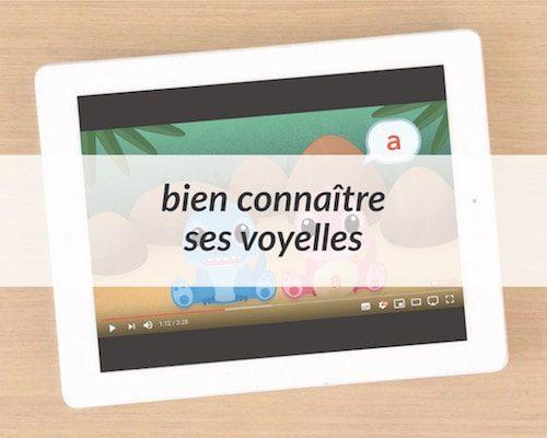 Apprendre à lire - vidéos voyelles