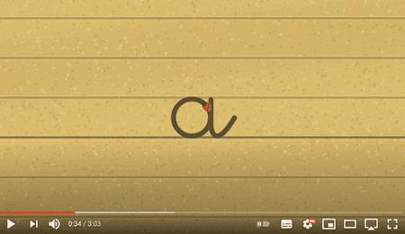 apprendre à écrire - le tracé des lettres rondes