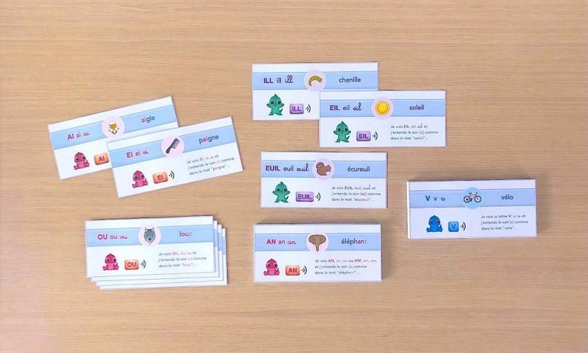 phonologie maternelle CP - cartes à imprimer pour retrouver facilement le son des lettres