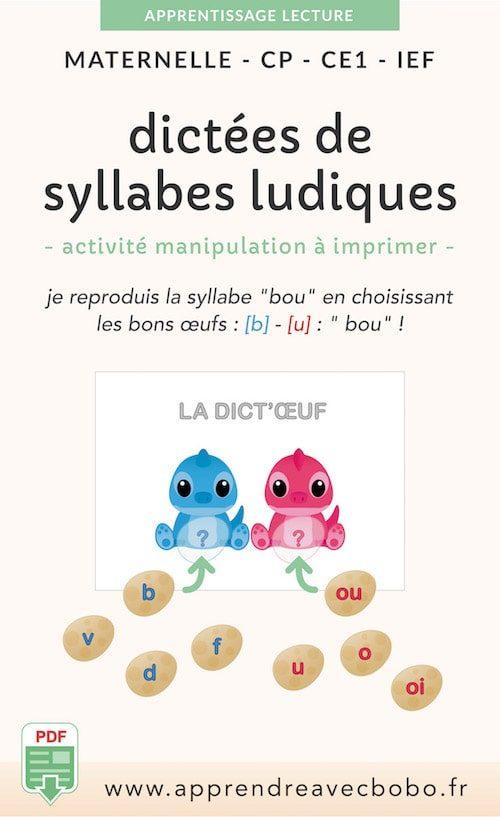 ressources pédagogiques - dictées sylabes