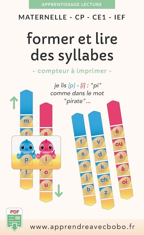 ressources pédagogiques - former et lire syllabes