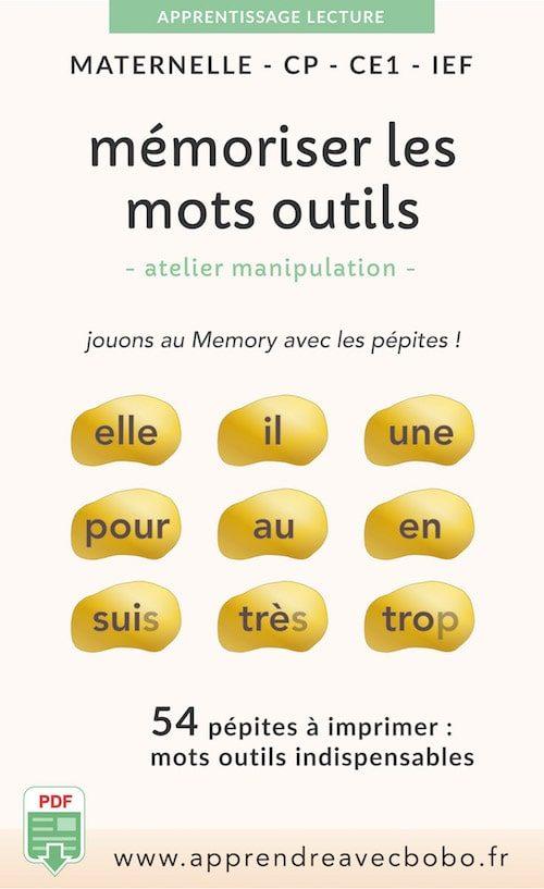 ressources pédagogiques - mémoriser mots outils